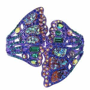 Betsey Johnson Butterfly Wing Hinged Cuff Bracelet